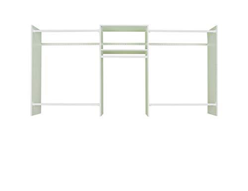 Easy Track Basic Starter Kit Closet Storage, 4'-8' Grey