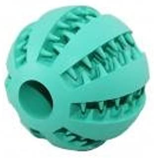 DORLIONA 7cm Non-Toxic Pet Dog Rubber Watermelon Pattern Ball Bite Resistant Teeth Cleaning Chew Toys : Blue, 7cm