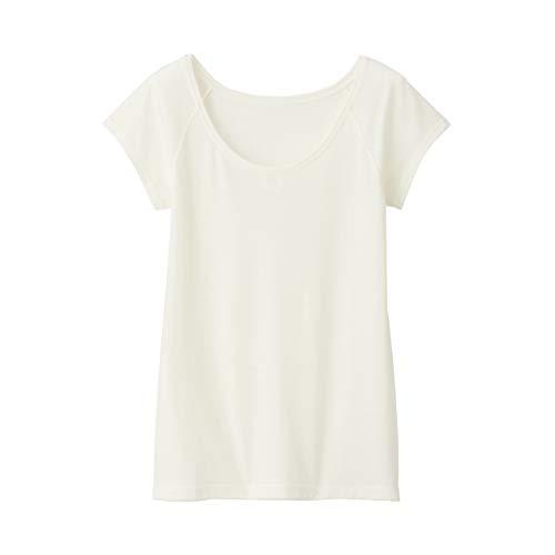 無印良品 脇に縫い目のない ウールフレンチスリーブTシャツ 4550182377606 レディース オフ白 日本 S (日本サイズS相当)