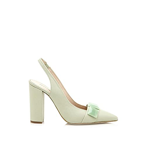 Zapatos Mujer Hannibal Laguna | Zapatos Delia | Hannibal Laguna Mujer | De Piel, con Interior Piel y Punta Afilada | Zapatos Zapato de tacón | sin Cierre-Abiertos | 44093 | Verde | 39