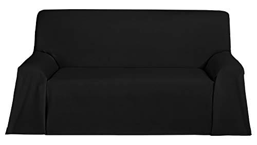Martina Home Foulard, Tela, Negro, 300 x 270 cm