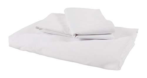 KAF Home Minimalist Bed Sheet Set | Brushed Microfiber Bedding | Fitted Sheet and Pillow Case Set | Soft, Comfortable, Winkle Resistant Sheet Set (King, White)