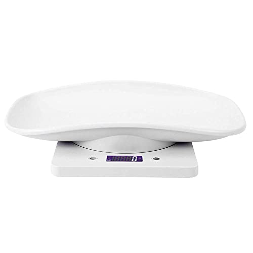FOLOSAFENAR Balance pour Animaux de Compagnie de Haute Précision 10kg / 1g - Balance électronique pour Petits Animaux - pour Chats et Chiens