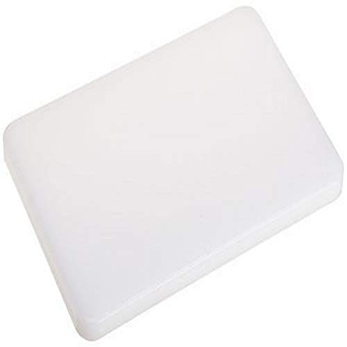 """Plastic Cutting Board 6x9.5 1/2"""" Thick White, NSF Approved Commercial Use"""