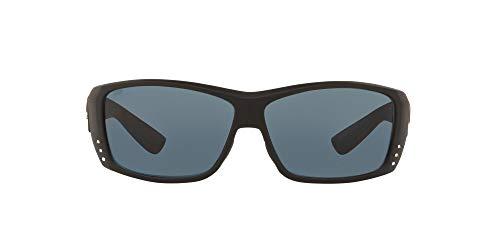 Costa Del Mar Cat Cay - Gafas de sol rectangulares para hombre, polarizadas, 61 mm