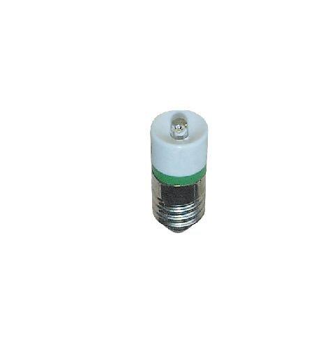 S+H Single-LED 10x25mm Sockel E10 230 Volt AC/DC weiß