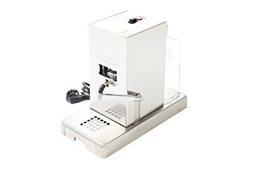 La Piccola Satinata italienische Espressomaschine für ESE-Pads | Umweltbewusst und sparsam im Verbrauch | Für Standard ESE-Pads 44mm