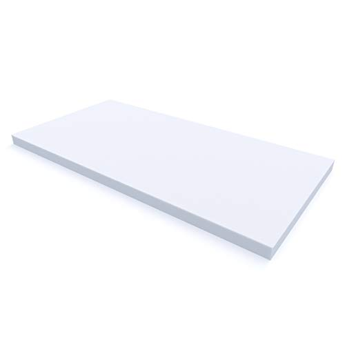 MSS® Schaumstoffplatte Polster Auflage Topper - 80 x 200 cm - 8 cm - RG27/45