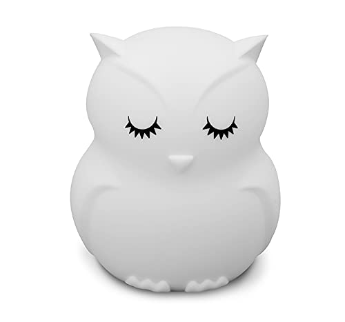 Owl Night Light for Kids Baby Silcone Night Light LED Nursery Lamp Dimmable Baby Night Light with Touch Sensor Remote Control Rechargeable 9 Colors Change Night Light for Children