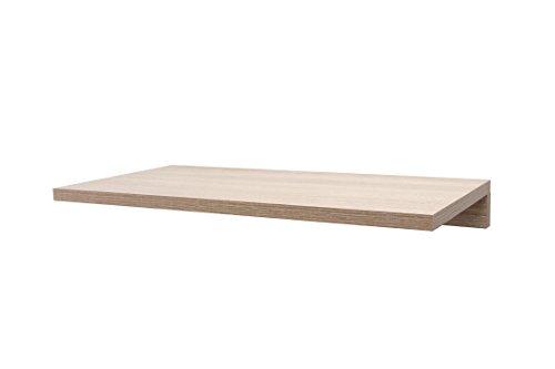 Hermes24 Bücherregal Regal Holz Freischwebend (BREGEG58) B/T/H 58 x 28 x 10 cm Sanoma Eiche (Nachbildung)