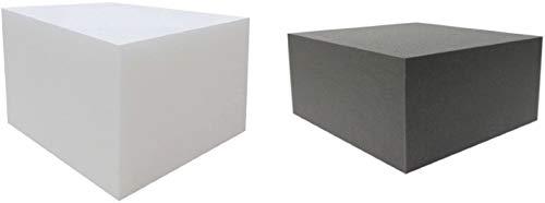 Dibapur® Orthopädischer Bandscheibenwürfel Weiß (Ohne Bezug) - (50x45x35 cm) Stufenlagerung, Stufenlagerungswürfel, Stufenbett, Reha, Orthopädischer, Kaltschaum, Positurkissen, Lagerungskissen, Stufenlagerung