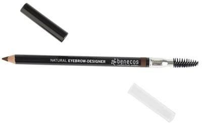 BENECOS Eyebrow Designer Brun - Brosse et crayon à sourcils -Pour dessiner et discipliner les sourcils - Parfait pour corriger leur forme naturelle - Certifié BDIH - 100% vegan