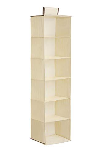 Premier Housewares - Zapatero para Colgar (6 Compartimentos), Color Beige