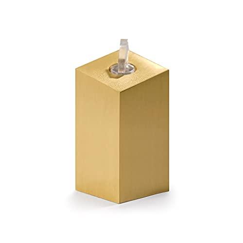 DAGCOT Soporte de exhibición de Anillo de Metal, escaparate Cuadrado de Oro, Titular del Organizador de la joyería para Anillos Portador de Anillos de Contador de ferias comerciales