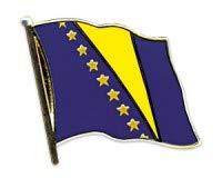 Bosnië en Macedonië vlaggen pin vaandels pin vlaggenpin