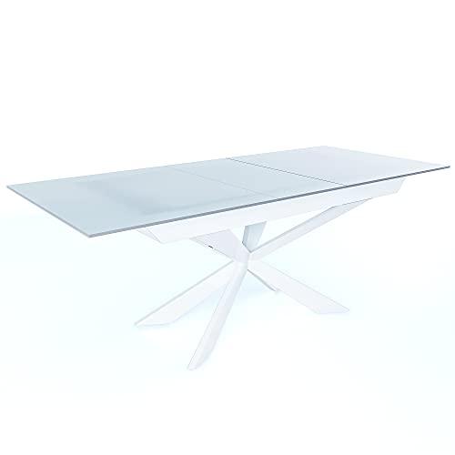 migliori tavoli allungabili vetro bianco