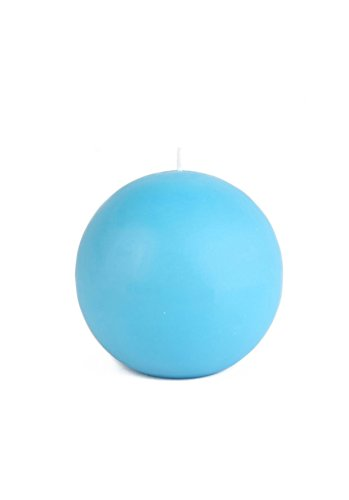 Zest Candle 2-Piece Ball Candles, 4-Inch, Turquoise