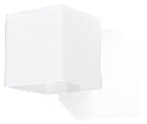 Sollux Lighting NOWA biała kuchnia i salon szkło OLLUX RICO SL.0212 kwadratowa klasyczna tradycyjna lampa ścienna 1-częściowa LED G-9 lampy