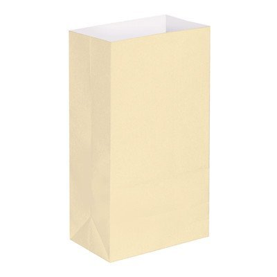 Luminaria Bags- Flame Resistant (100 Ct) Color: Cream by Lumabase