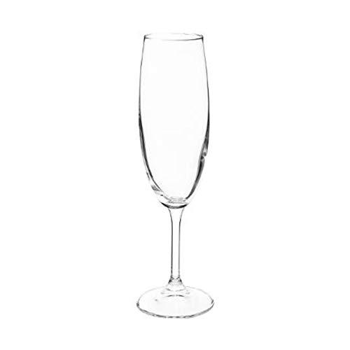 Lot de 3 flûtes à champagne - 22 cl - Tana - Cristallin