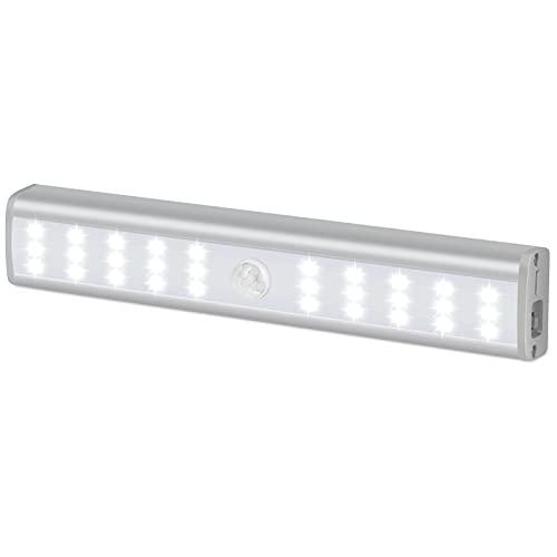 Homelife LED Bars Motion Sensor Lights, 30-LED Wireless Under Cabinet Lighting, LED Closet Lights, Rechargeable Led Strip Lights, Stick On Lights Magnetic Safe Light Indoor