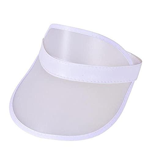 XMYNB Viseras de Sol Unisex Neon Visor Hat Neon Hat Sun Visor Golf Deporte Deporte Tenis Diadebera Sun Gorra Vacío Top Transparente Elástico Elástico Cap De Protector Solar-H
