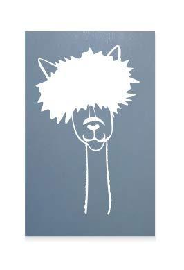spb87 Lama avec Frange d'alpaga???Animal, Enfants de Voiture Stickers Vinyle Fen?tre Autocollant pour Ordinateur Portable Autocollant C?ur D?cor Home Live Enfants Funny Art Mural Decal Stickers