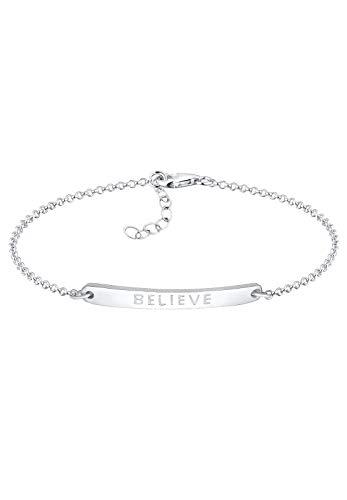 Elli Armband Damen Believe-Schriftzug in 925 Sterling Silber