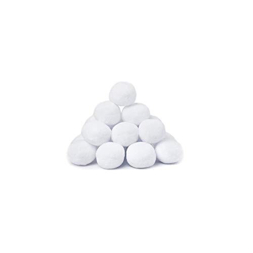 JiYanTang 50Pcs 7.5cm Indoor Realistic Fake Soft Snowballs for Fight Game Christmas Fun Outdoor Interactive Toys Toys Winter Sports Toys