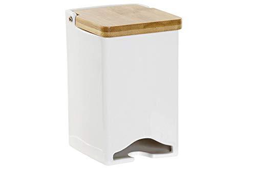 Space Home - Scatola Portaoggetti per tè - Dispenser per tè in Ceramica - Organizer Cucina e Porta Tisane per Conservare Le Bustine - Bianco