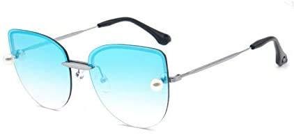 Squash bril Cat Eye Pearl Sunglasses Refined zonnebril Personality Zonnebril Ocean Zonnescherm Outdoor bril (Color : A)