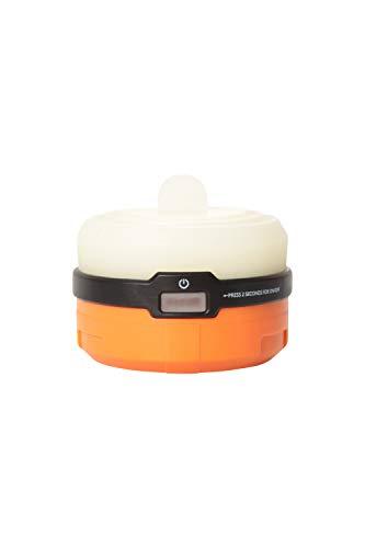 Mountain Warehouse Lanterne de Camping Pliable en Silicone - Ampoules LED 100 LM - Résistante aux intempéries - Légère - pour Camping, randonnée et extérieur Orange Taille Unique