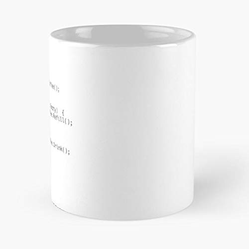 Java Code Coding Javascript programador de café programador de café La mejor taza de café de cerámica blanca de 11 oz