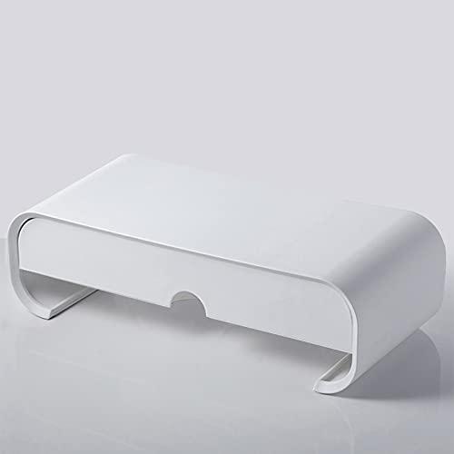Soporte de Monitor el plastico con cajón,Soporte Monitor Elevador con Organizador,para Almacenamiento,para Monitor de PC Ordenador portátil Impresora de Oficina Alivia el Dolor de Cuello