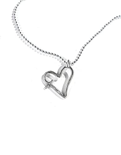 Dainty His Word In My Heart Sterling Necklace