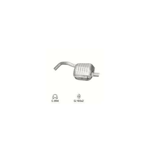 147 1.6 2.0 Twin Spark 16V Auspuff Nachschalldämpfer + Anbausatz