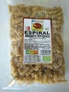 Bioprasad - Espiral Amaranto-Teff-Quinoa Bio Sin Gluten 250 Gramos - Sin Gluten Sin Lactosa - Procedente De Agricultura Ecológica