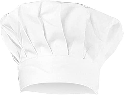 Sombrero de Cocina, Gorro de cocina blanco para adulto, para adulto, a domicilio, hotel, barbacoa