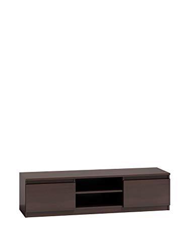 NOXEN Mesa de TV Malwa 140 wengué, soporte para TV, muebles de salón, salón, pasillo, mesita de noche, TV para sala de estar