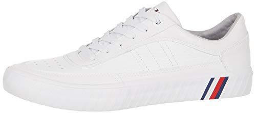 Tommy Hilfiger Herren Corporate Premium Sneaker, Weiß (White Ybs), 44 EU