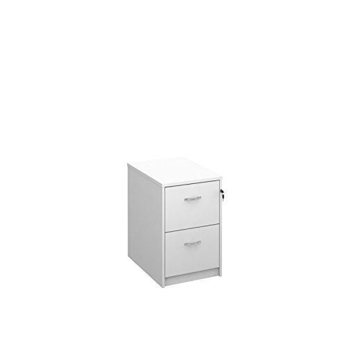 Meuble-classeur OD à 2 tiroirs - Format A4 - 40 x 40 x H 66 cm, Bois dense, blanc, 65x48x73 cm