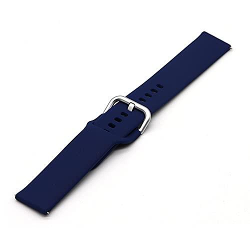 Ternzun Correa de silicona para Samsung Galaxy Watch Active 2 Active 3 Gear S2 Correa de reloj para Huami Amazfit bip (22 mm, 13)