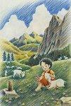300ピース ジグソーパズル アルプスの少女ハイジ 新緑の谷 (26x38cm)