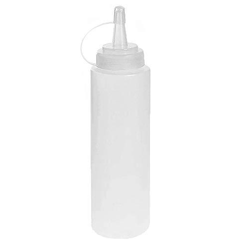 Omenluck - 8 botellas de plástico con tapas para salsa de soja (225 ml)