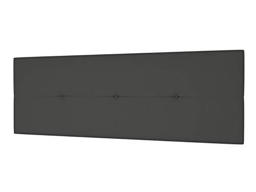 LA WEB DEL COLCHON - Cabecero Tapizado Génova para Cama de 150 (160 x 55 cms) Gris Ceniza   Cama Juvenil   Cama Matrimonio   Cabezal Cama   Cabeceros tapizados Dormitorio
