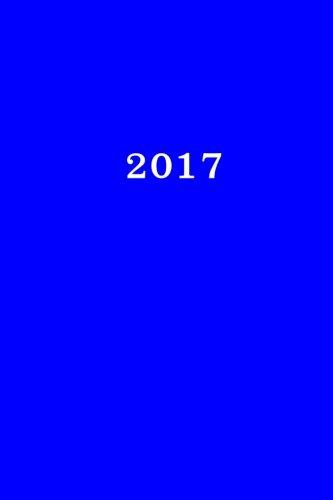 2017: Kalender/Terminplaner: 1 Woche auf 2 Seiten, Format ca. A5, Cover blau