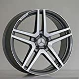 New 20 inch x 8.5 Wheels Rims S65 AMG Style Gunmetal Machined Face Compatible With Mercedes Benz E320 E350 5x112 Set Of 4