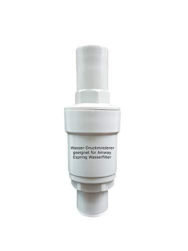 Riduttore di pressione per acqua, adatto per filtro acqua Amway Espring, permette il collegamento di tutti i rubinetti a tre vie, riduce la pressione