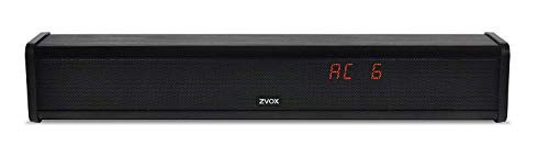 ZVOX Voice-Clarifying Sound Bar with Patented Hearing Technology, Six Levels of Voice Boost - 30-Day Home Trial - AccuVoice AV203 TV Speaker - Black