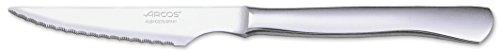 Arcos Cuchillos de Mesa, Cuchillo Chuletero Cuchillo de Mesa, Monoblock de una pieza de Acero Inoxidable 110 mm, Color Plata